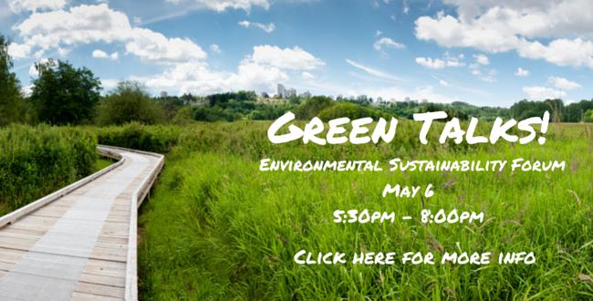 Green Talks – May 6th at Electronic Arts
